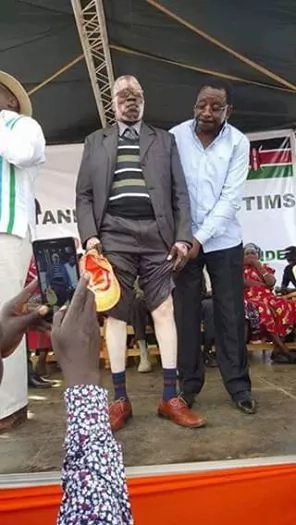 Photos: See how Orengo used election violence victim to get sympathy from crowd