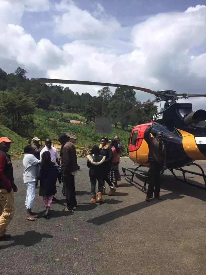 Flamboyant Nairobi lawyer and William Ruto's friend hires chopper the village to vote and back (Photos)