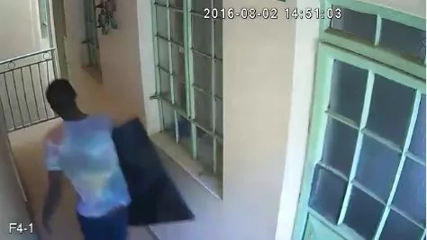 Thieves caught on camera raiding Roysambu home