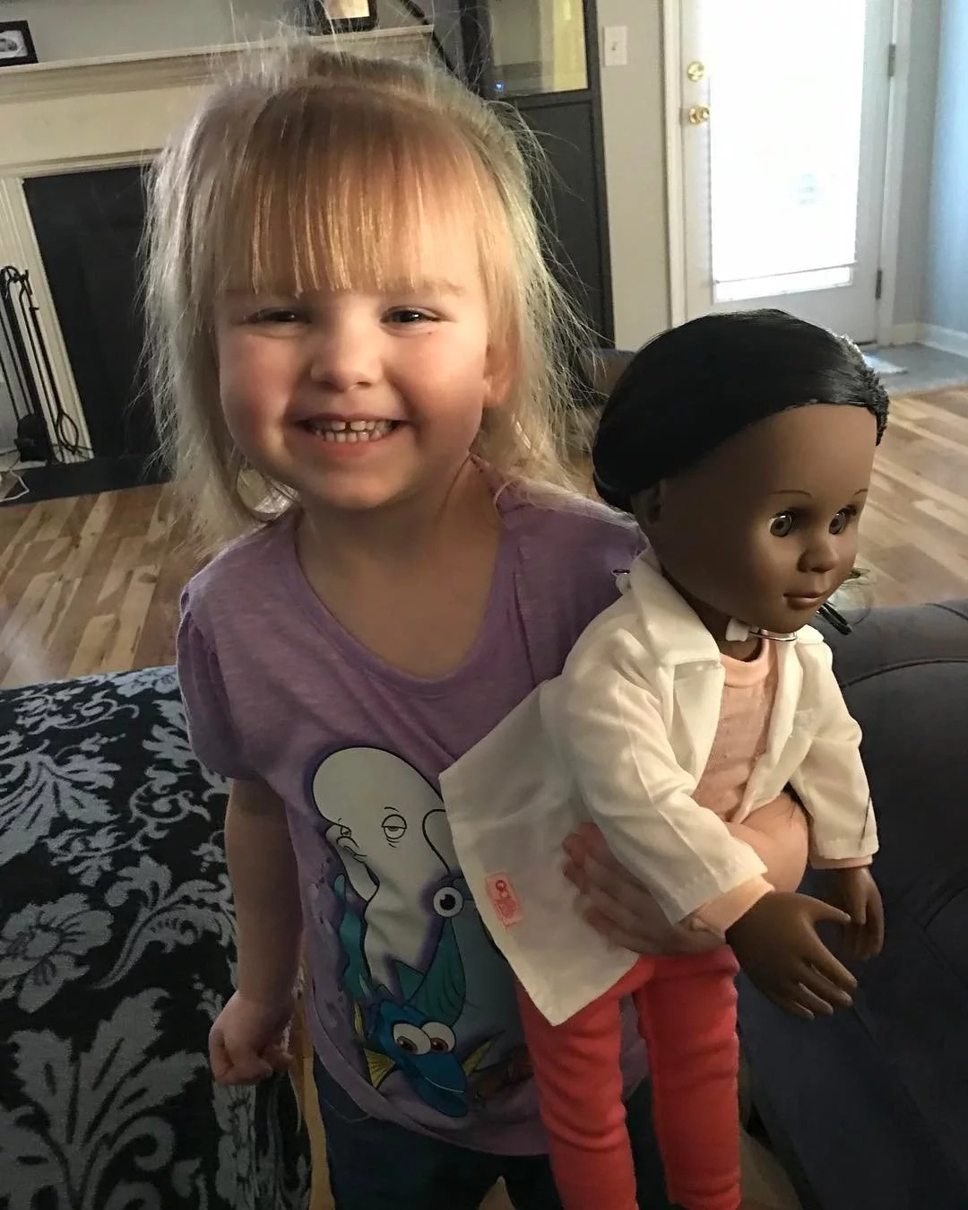 Girl, 2, explains why she prefers BLACK doll to white (photos)