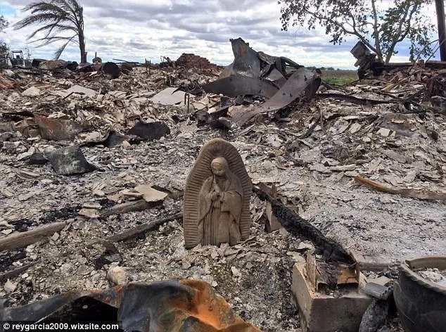 The Virgin Mary statue was found miraculously intact. Photo: Reygarcia2009.wixsite.com