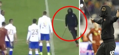 WATCH: Hooligan attacks referee with a metal bar during top-flight match