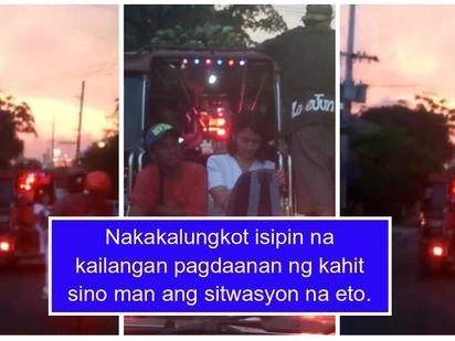 Litrato ng isang babaeng nurse nakaupo sa hagdanan ng pampasaherong jeep pinag-uusapan