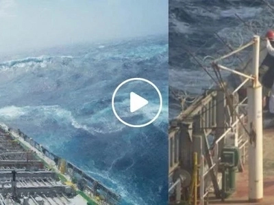 This is only one of the dangers a Pinoy seaman faces everyday. Deadly monster waves that could anytime sink their ship!