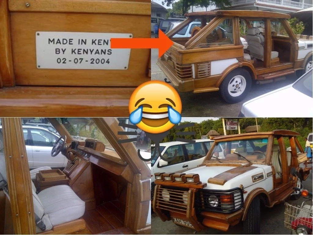 Creative Africans have created a crazy-looking Range Rover with wood and its freaking amazing