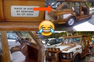 Mkenya aunda gari aina ya Range Rover kwa mbao (picha)