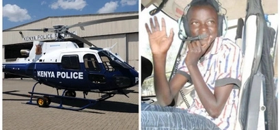 "9-year-old boy sparks police HELICOPTER search found hiding ""under his bed"""