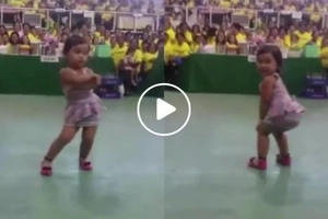 This adorable Pinay kid just twerked and the crowd went crazy