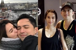 Ang sosyal naman ng date! Dennis Trillo elates as Jennylyn Mercado kisses him on their Europe vacation