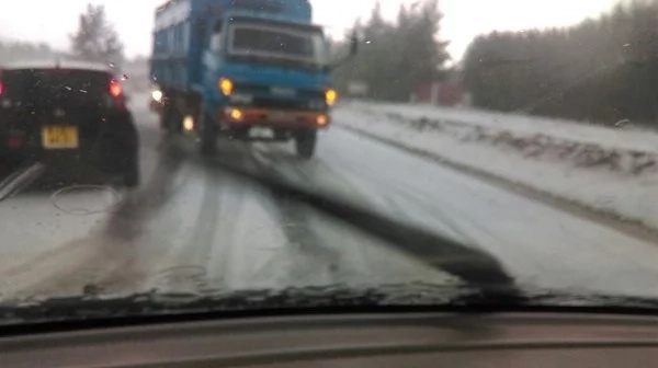 Unbelievable! Many astonished as snow falls in Nyahururu(photos)