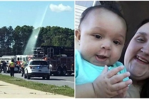 Stairway to heaven! Families comforted after seeing their loved ones leaving Earth after car crash (photos)