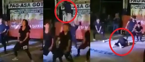 Dancer falls headfirst on stage during dance competition