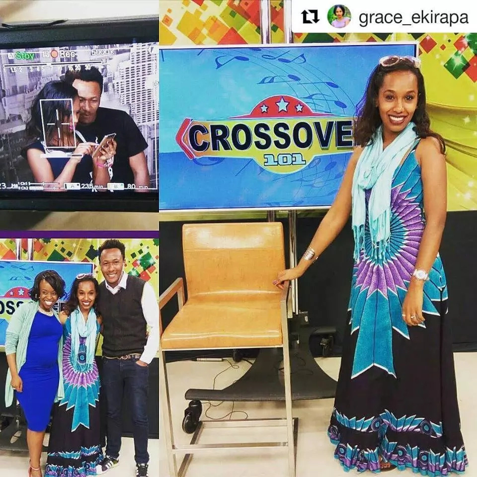 Photos of the new personality co-hosting Cross Over 101 on NTV