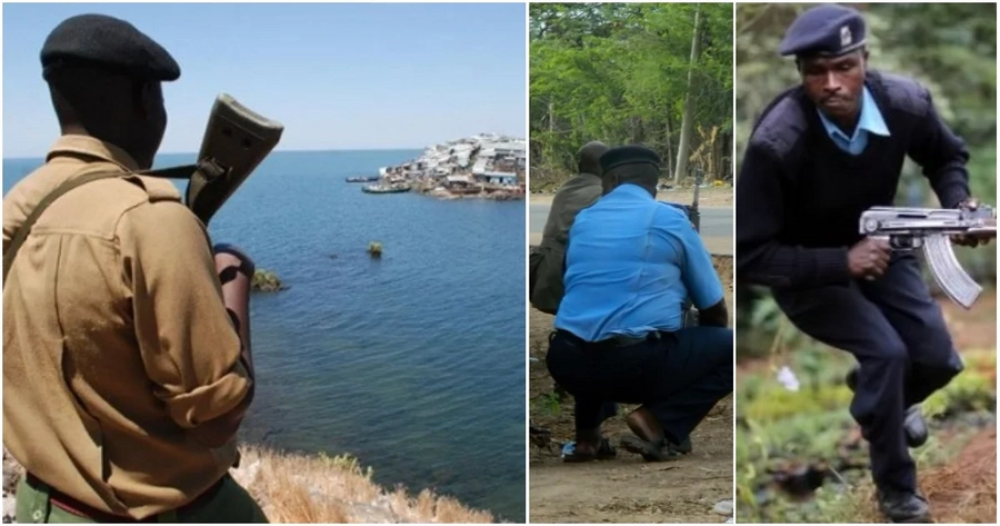 Kenyan police manning disputed Migingo island chased like stray dogs by their Ugandan counterparts