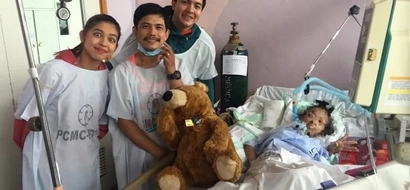 LOOK: AlDub visits sick fan; what they did after will melt your heart