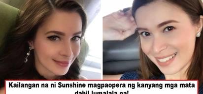 Di na siya nakakakita nang mabuti? Sunshine Cruz's emergency eye surgery in the U.S. sends much alarm as to the actress' health condition