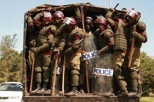Photos: police clash with protesters in South B