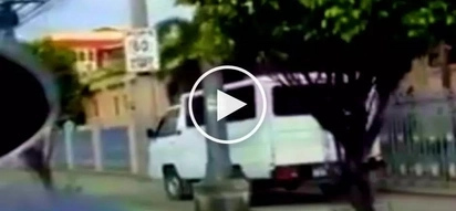 Pinoy L300 van driver caught on video dangerously driving on sidewalk along Commonwealth Avenue