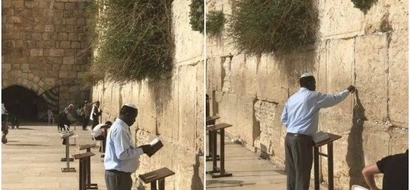 Photos of Raila praying at historic site in Jerusalem excite Kenyans