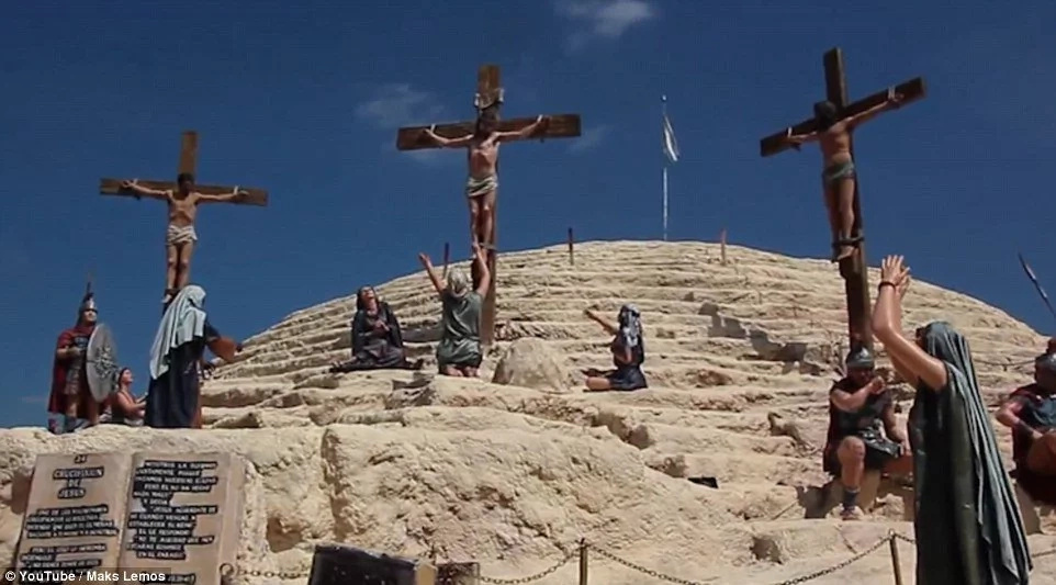 This park features Jesus Christ, other religious figures lives