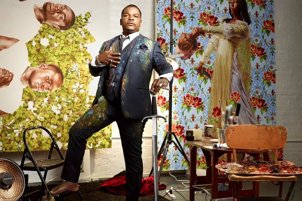 Kehinde Wiley is known for his floral backgrounds. Photo: Kehinde Wiley