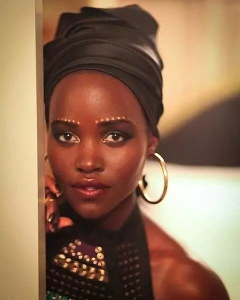 Lupita stuns in African wear in South Africa