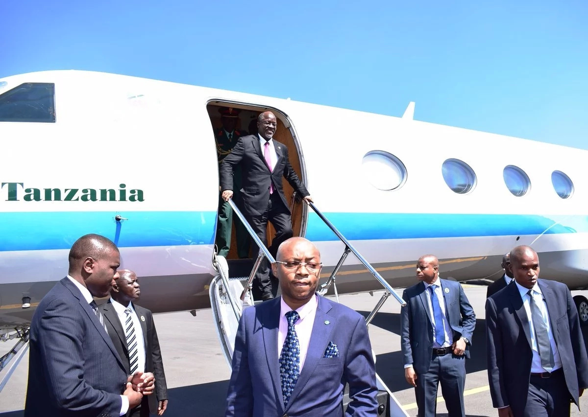 President John Magafuli of Tanzania given heroic welcome in Kenya