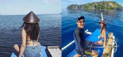 Nadine Lustre blesses us with another swimsuit photo from her beach trip to Palawan