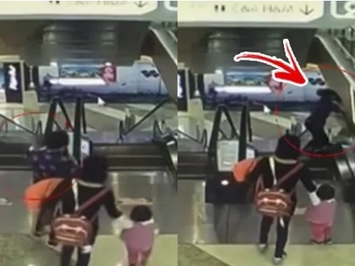 4-month-old baby dies after grandmother tripped on escalator, lost her grip on the baby, sending him falling to the ground below!
