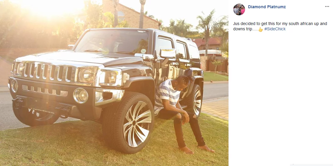 Diamond Platnumz cars