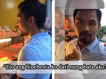 Napaka down-to-earth talaga! Sen. Manny Pacquiao visits a local bakery!