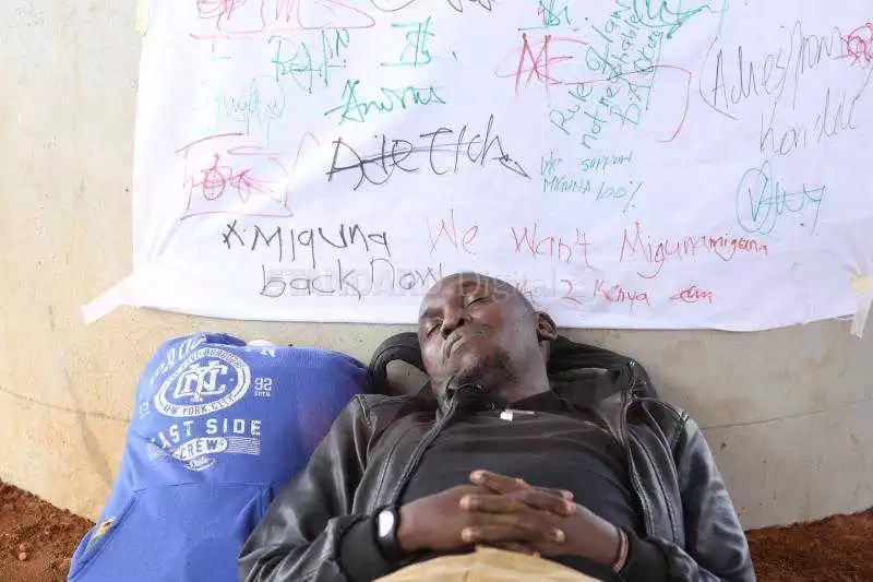 He won't die soon, he's taking a lot of water - police say as they refuse to arrest Kisumu activist on hunger strike