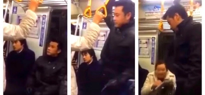 Jeric Raval offered his seat to a Japanese woman during a train ride in Japan! His action was caught on video and it went viral!
