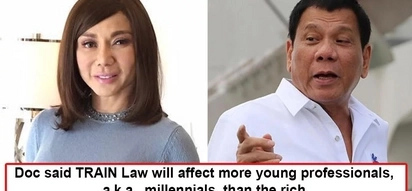 Nagsalita na rin si Doc! Vicki Belo hits at Pres. Duterte's TRAIN law as unfair and will affect working class more than the rich