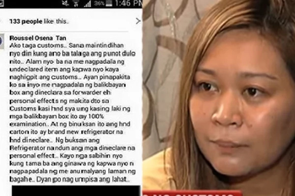 Alleged BOC staff draws online flak for chiding OFWs over balikbayan box outcry