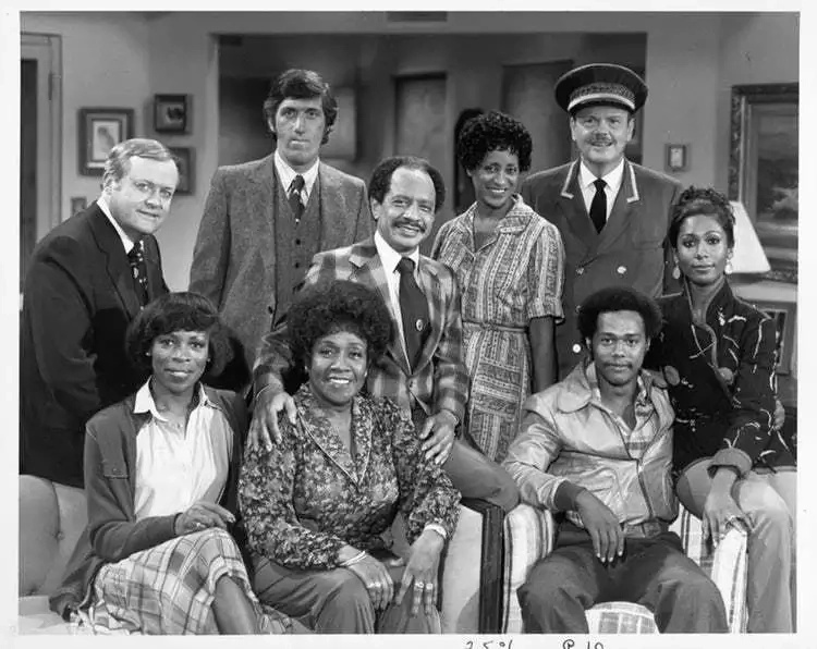 "Marla Gibbs and the rest of the cast of ""The Jeffersons""/ Source: Wikimedia"