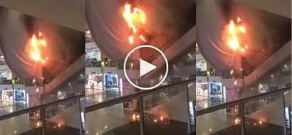 Sunog sa Glorietta! Shoppers go frantic as fire ravages a part of the mall! Watch the horrifying footage!
