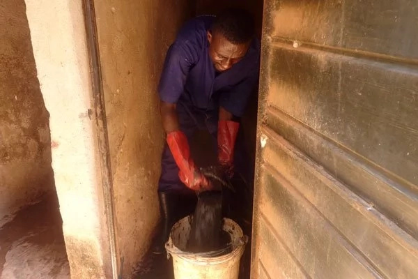 Money does not stink! Young man who turned emptying toilets into BIG business tells his story