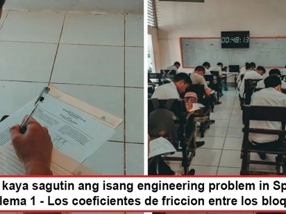 Triggered daw siya kasi! Engineering teacher in Cebu gives exam in Spanish after students ignored him by studying for next subject - Spanish class