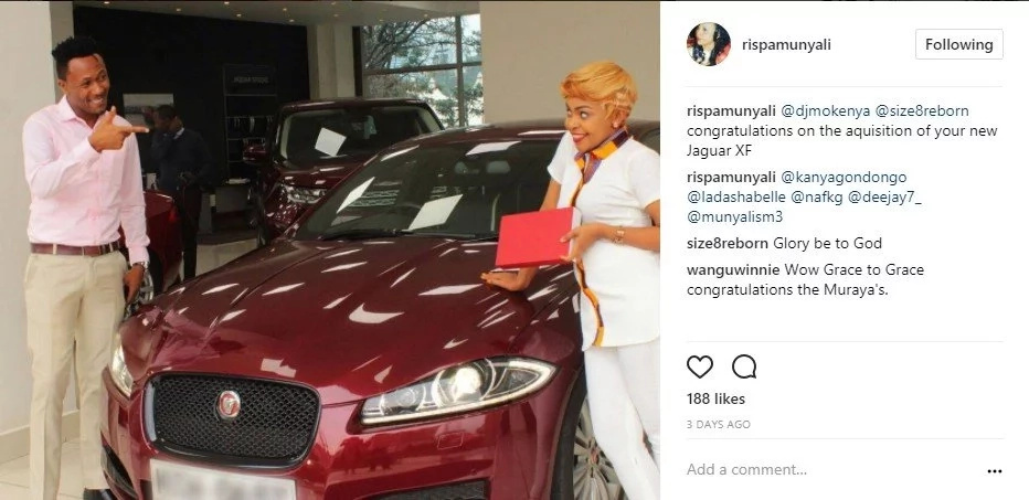Injili Inalipa, Check out the new multi-million Jaguar XF that gospel singer Size 8 has just bought(Photos)