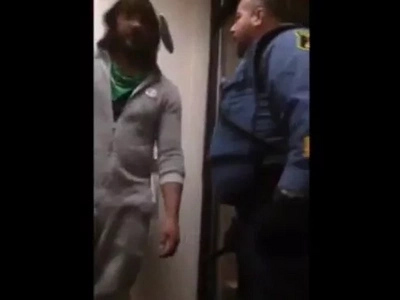 Worst Prankster In The World Gets Beat Up By A Cop For His Stupid Prank
