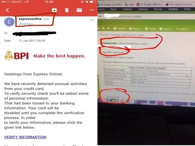 Scam alert! Do not click these emails if you have a BPI account