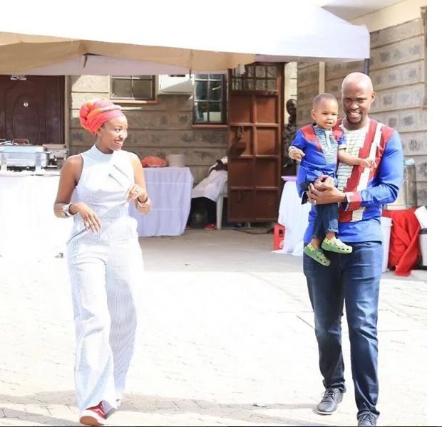 Mtangazaji wa Citizen TV Janet Mbugua amfanyia mwanawe sherehe za kitamaduni (picha)