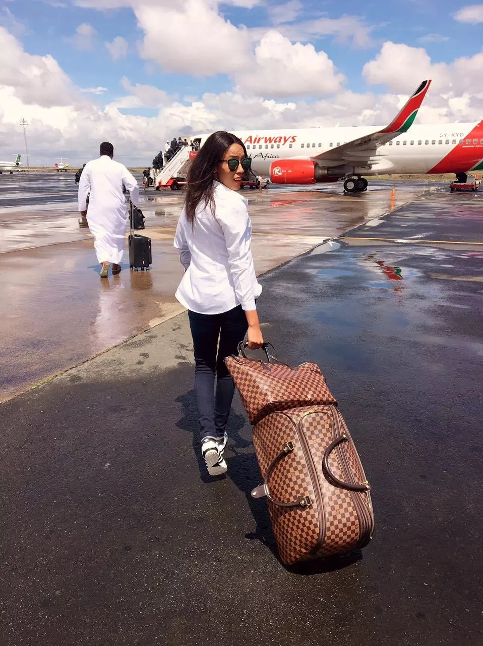 Ebru TV's Doreen Gatwiri slays as she heads out for her vacation (photos)
