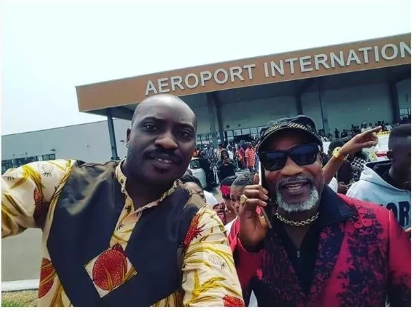 See the selfie Koffi Olomide posted after landing in Kinshasa
