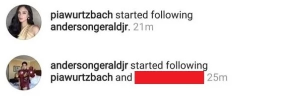 """Shunga lang daw maniniwala dito! Netizens react to Gerald Anderson and Pia Wurtzbach's """"unfollow and follow"""" game on Instagram"""