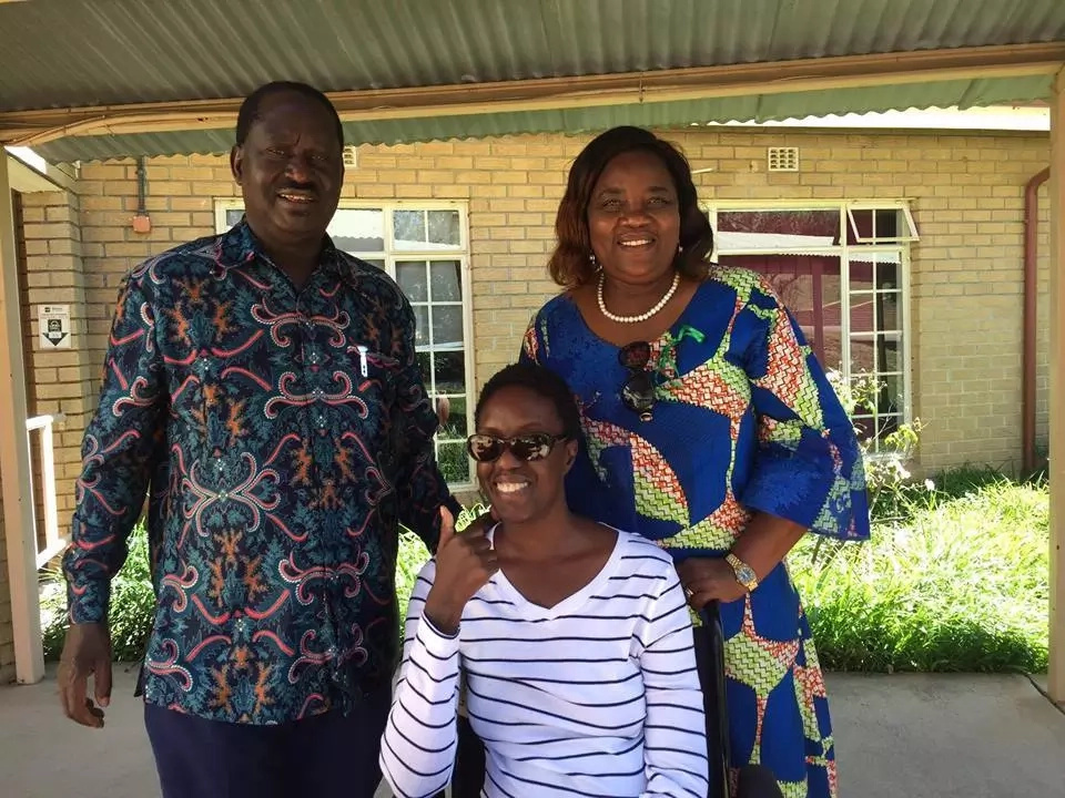 Raila shares first photo of her ailing daughter Rosemary from a South African hospital