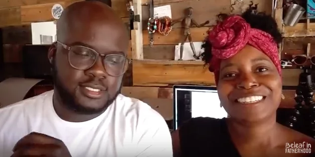 Henry and his wife run the YouTube channel that focuses on fatherhood. Photo: YouTube/Beleaf in Fatherhood