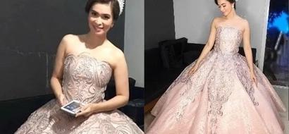 Sunshine Cruz is pretty in pink in her princess-like Santacruzan gown