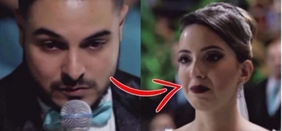A groom made his bride cry and their guests speechless when he admitted that he loves someone else
